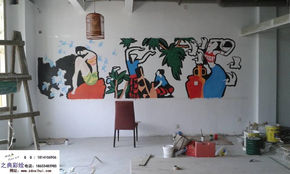 我家电视背景墙想画壁画 不知道画什么图案图片